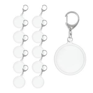ハメパチ 丸型(大) KM54 10個入り (キーホルダー 555L付)|daiomfg