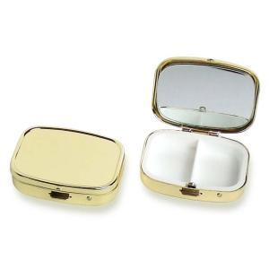 アイラッシュケース 鏡付き B325-2 ゴールド 10個入り|daiomfg