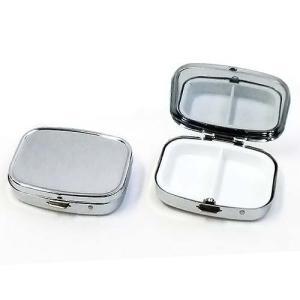 アイラッシュケース 鏡付き B325-2 シルバー 1個入り【ゆうパケット可能】|daiomfg