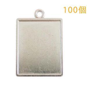 空枠プレート フレームキーホルダー 長方形20×25 100個入り (本体のみ)|daiomfg