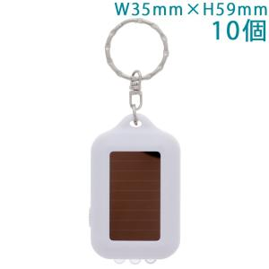 携帯LEDソーラーライト 横スイッチタイプ on/off表示 (キーホルダー付) 10個入り 【ゆうパケット可能】|daiomfg
