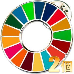 SDGs 国連ガイドライン対応 ピンバッジ バッチ バッヂ (平型) 2個セット