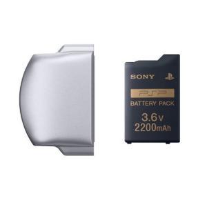 (ほぼ新品) PSP バッテリーパック(2200mAh) PSP2000/3000用 バッテリーカバー付き/PSP(d4872) dairihanbai