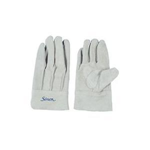 作業革手袋 皮手袋 牛床革手袋 背縫い シモン simon 107AP 10双組|dairyu21