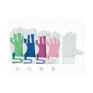 作業革手袋 皮手袋 豚革手袋 甲メッシュマジック式 シモン 129豚白|dairyu21