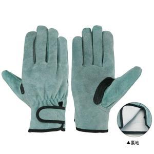 シモン 作業革手袋 皮手袋 牛床革手袋 マジック 717P-W オイル裏地付|dairyu21