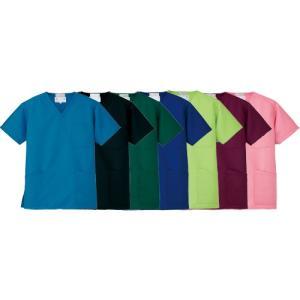 ■商品説明 エコポプリン(再生PET繊維を50%以上使用)を採用した環境にやさしい医療用白衣スクラブ...