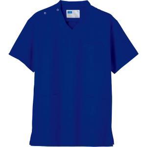 白衣 スクラブ ロイヤルブルー 医療用白衣 男性 女性 兼用 自重堂 メディカルウエア WH11485 dairyu21