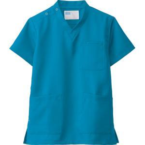 白衣 スクラブ ターコイズブルー 医療用白衣 男性 女性 兼用 自重堂 メディカルウエア WH11485 dairyu21