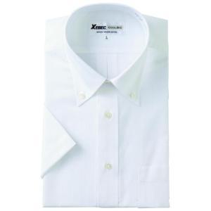 半袖Yシャツ(ワイシャツ) ボタンダウン クールビズ 15055 ジーベック XEBEC(15055xe)|dairyu22