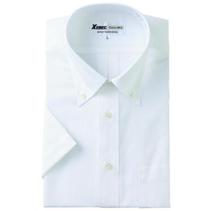 半袖Yシャツ(ワイシャツ) ボタンダウン 3L 4L クールビズ 15055 ジーベック XEBEC(15055xe-b)|dairyu22