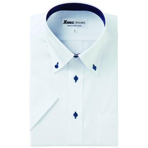 半袖Yシャツ(ワイシャツ) ボタンダウン 3L 4L クールビズ 15057 ジーベック XEBEC(15057xe-b)|dairyu22
