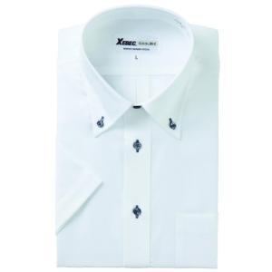 半袖Yシャツ(ワイシャツ) ボタンダウン クールビズ 15058 ジーベック XEBEC(15058xe)|dairyu22