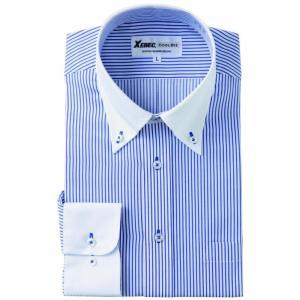 長袖Yシャツ(ワイシャツ) クレリック 3L 4L クールビズ 15154 ジーベック XEBEC(15154xe-b)|dairyu22