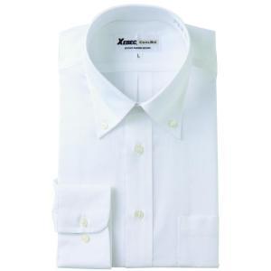 長袖Yシャツ(ワイシャツ) ボタンダウン 3L 4L クールビズ 15155 ジーベック XEBEC(15155xe-b)|dairyu22