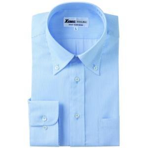 長袖Yシャツ(ワイシャツ) ボタンダウン 3L 4L クールビズ 15156 ジーベック XEBEC(15156xe-b)|dairyu22