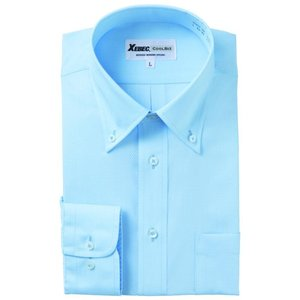長袖Yシャツ(ワイシャツ) ボタンダウン 3L 4L クールビズ 15159 ジーベック XEBEC(15159xe-b)|dairyu22