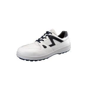 安全靴 シモン 8611白ブルー SX3層底Fソール 安全靴スニーカー|dairyu22