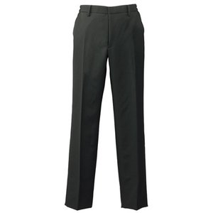 黒 パンツ メンズ 861262 脇ゴムスラックス 裾上げ機能付きパンツ アイトス|dairyu22