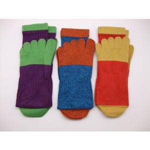 靴下 5本指靴下 3足組 働く靴下 のばのば|dairyu22
