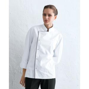 コックコート 長袖 白衣 男女兼用 DN-8054 ポリエステル65%綿35% チトセ|dairyu22