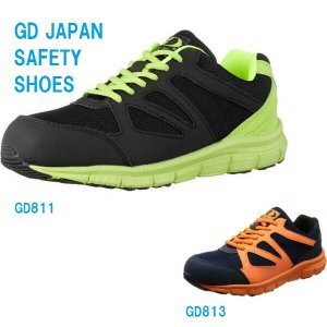 安全靴 スニーカー メッシュ GD-811 813 GDジャパン (ジーデージャパン)|dairyu22