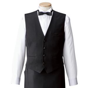 ベスト 男性用 黒 HS2800 サービスユニフォーム アイトス AITOZ レストラン・飲食店・ホテル・フードサービス|dairyu22