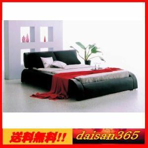 モダン ゴージャスダブルベッドフレーム ディザイア ブラック|daisan-store