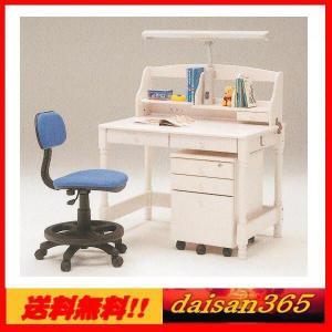 カントリー調のかわいい学習机 ホワイト ジョイフル ライト付 ※椅子は別売りです。 daisan-store
