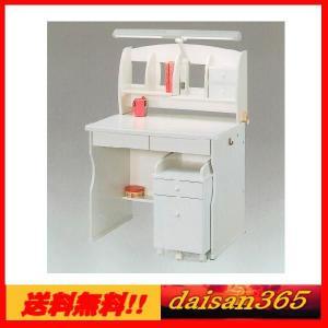 学習机 スノー ホワイト 90cm幅 ライト付 ※椅子は別売りです。 daisan-store