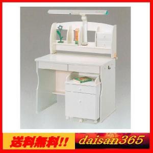 学習机 スノー ホワイト 100cm幅 ライト付 ※椅子は別売りです。 daisan-store