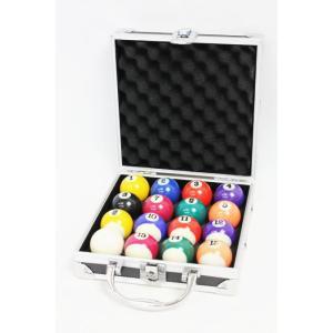 【キズあり】家庭用ビリヤードボール ケース入【小さい38mm球】アタッシュ型ハードケース 黒【JUEKO】BY-8385Y