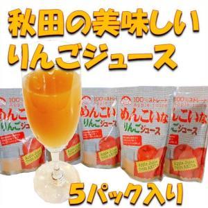 りんご ジュース 秋田県 ストレート  贈り物 お土産 贈答    美味しい秋田のりんごジュース 5...