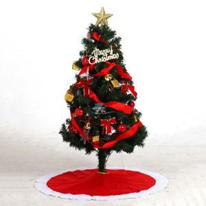 今季限定 在庫限り クリスマスツリー セットツリー 120cm レッド Xmas  ツリー クリスマ...