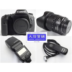 CANON キャノン デジタル一眼レフカメラ EOS7D EFS15-85レンズ 580EXIIストロボ セット 中古A D-1741