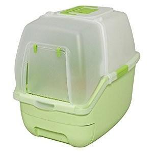 アイリスオーヤマ IRIS 楽ちん猫トイレ フード付きセット グリーン RCT-530F [C010...