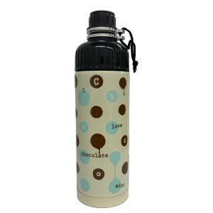 SHO-BI ステンレスボトル 500ml 直のみ 携帯用 Chocolatea NL72641 [A230504]|daishinshop