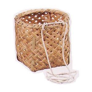 小柳産業 【取寄品】 天然素材 腰かご 丸型  45055 【086012】 (ガーデニング)|daishinshop