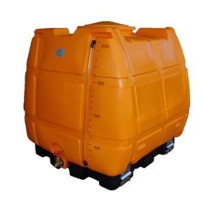 エスコ ESCO 2000L ポリエチレン容器(台・バルブ付) EA991AC-10 [I270302]