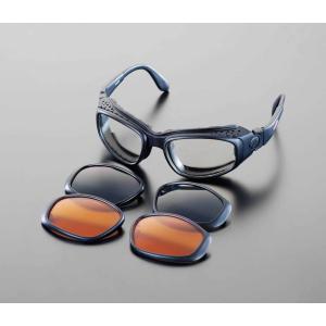エスコ ESCO セーフティーグラス(レンズ3色セット付) EA800LA-1 [I260104]