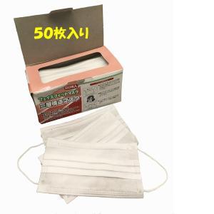 DAISHIN工具箱 サージカルマスク 50枚入 三層構造  [A230201]|daishinshop