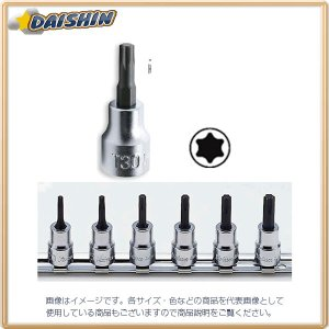 コーケン Ko-Ken  3/8(9.5mm)トルクスビットソケットレールセット 6ヶ組 RS3025/6-L50 [A010518]