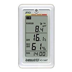 エー・アンド・デイ AND  A&D みはりん坊W(乾燥指数・熱中症指数表示付温湿度計) AD568...