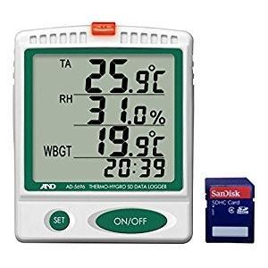 エー アンド デイ 国内正規品 AND A デジタル温湿度SDデーターロガー (訳ありセール 格安) A230101 D AD5696
