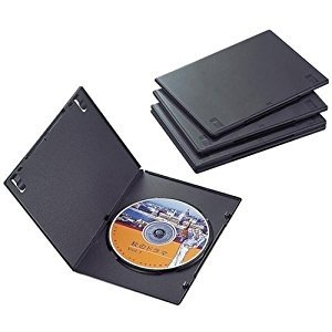 エレコム  DVDスリムトールケース1枚収納/5枚セット(ブラック) CCD-DVDS02BK [F...