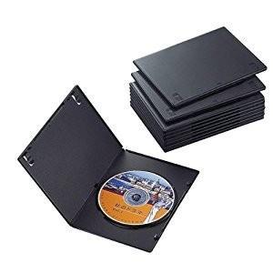エレコム  DVDスリムトールケース1枚収納/10枚セット(ブラック) CCD-DVDS03BK [...