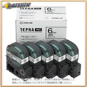 キングジム  テプラテープ (5個入) [60238] ST6K-5P [F011408]