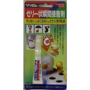 ツリロン アルファ 【在庫品】 ゼリー状 瞬間接着剤 3g  [A230302]|daishinshop