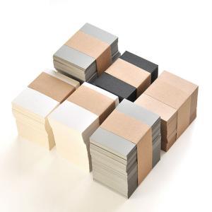 台紙とおそろいの紙のカード 50枚 47×67mm 無地(パール・マット・クラフト・グレー・ブラック...