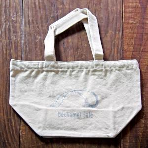 【Bechamel Cafe】キャンバス トートバッグ/ カフェ オリジナル キャンバス地 シンプル カジュアル オフホワイト|daiwa-kigyo|02